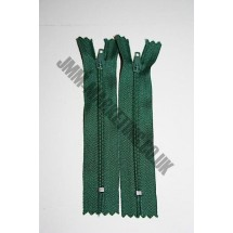 """Nylon Zips 18"""" (46cm) - Bottle Green"""