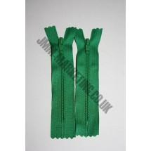"Nylon Zips 18"" (46cm)- Emerald"
