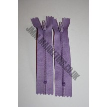"Nylon Zips 22"" (56cm) - Lilac"