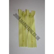 """Nylon Zips 22"""" (56cm) - Lemon"""
