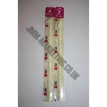 """Optilon Concealed Zips 12"""" (30cm) - Cream"""