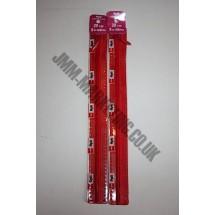 "Optilon Concealed Zips 12"" (30cm) - Red"