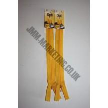 "Optilon Concealed Zips 16"" (41cm) - Gold"