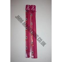 "Optilon Concealed Zips 16"" (41cm) - Cerise"