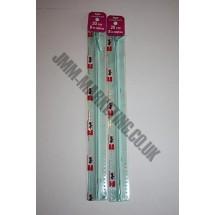 "Optilon Concealed Zips 16"" (41cm) - Pale Green"