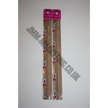 """Optilon Concealed Zips 20"""" (51cm) - Beige"""