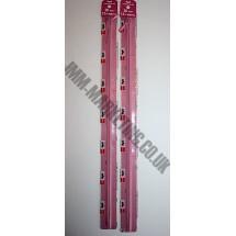 "Optilon Concealed Zips 22"" (56cm) - Dusky Pink"
