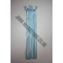 "Optilon Concealed Zips 22"" (56cm) - Baby Blue"