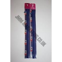 "Optilon Concealed Zips 22"" (56cm) - Royal"