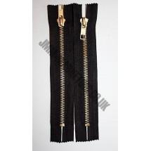 """Jean Zips 7"""" (18cm) - Black"""