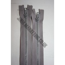 "Open Ended Zips 18"" (46cm) - Mid Grey"