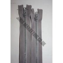 "Open Ended Zips 22"" (56cm) - Mid Grey"