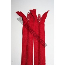 """Open Ended Zips 24"""" (61cm) - Red"""