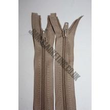 """Open Ended Zips 28"""" (71cm) - Beige"""
