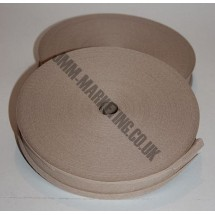 "Bias Binding 1"" (25mm) - Beige - Roll"