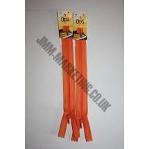 "Optilon Concealed Zips 20"" (51cm) - Orange"
