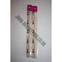 """Optilon Concealed Zips 22"""" (56cm) - Ivory"""