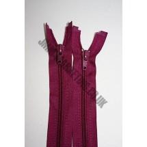 """Open Ended Zips 28"""" (71cm) - Burgundy"""