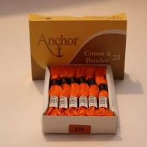 Anchor Cotton a Broder - Orange (316)
