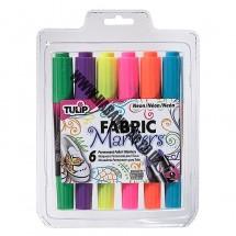 Tulip Dual Tip Fabric Pens - Neon
