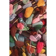 72 Pack of Trebla Embroidery Threads