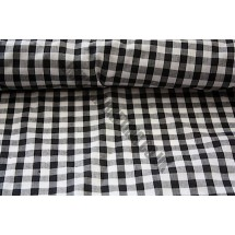 """Polyester Gingham 45"""" (1.14m) wide - Black (1/4"""" Squares)"""