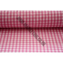 """Polyester Gingham 45"""" (1.14m) wide - Pink (1/4"""" Squares)"""