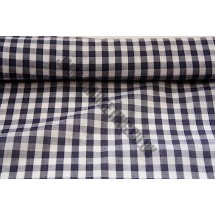 """Polyester Gingham 45"""" (1.14m) wide - Navy (1/4"""" Squares)"""