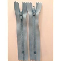 """Nylon Zips 9"""" - Light Blue"""