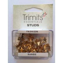 Pyramid Claw Studs - Gold 9mm