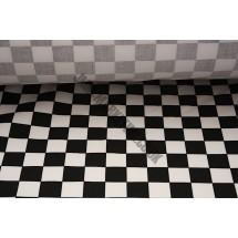 """Apron Fabric - 60"""" (1.5m) wide - Black & White Squared"""