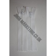 "Nylon Zips 4"" (10cm) - White"
