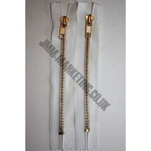 "Jean Zips 6"" (15cm) - White"